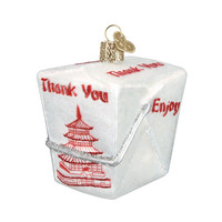 Chinese Take-Out Glass Blown Ornament