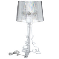French Grand Table Lamp in Clear