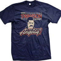 Funny Ron Swanson Parks and Rec Tee Shirt Nick Offerman Vote for Ron Swanson Shirt Great Gift Many Colors
