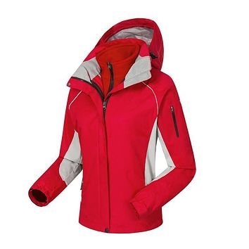 2 pcs women autumn winter down sportin snow coat candy color snow clothes Wind and Water proof outdoors with hoodie brand jacket