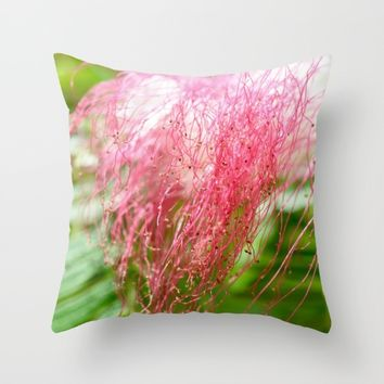 Pink Costa Rican Flower Throw Pillow by UMe Images