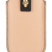 Alexander McQueen | Skull-embellished leather iPhone sleeve | NET-A-PORTER.COM