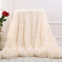 Super Soft Sofa Blanket for Babies Pets Children and Adults Long Shaggy Faux Fur Warm Elegant Throw Blanket