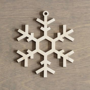 Wooden Snowflake 10 cm Christmas Decoration Laser Cut n.15