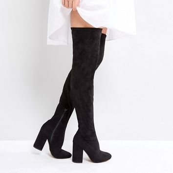 ASOS KATCHER TALL Heeled Over The Knee Boots at asos.com