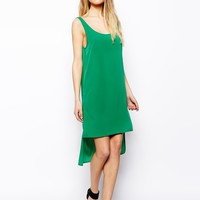 ASOS Tank Dress With Dipped Hem - Green