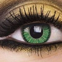Vivid Green Colour Contact Lenses, Vivid Green Colour Lens | EyesBright.com