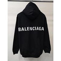 BALENCIAGA Women Fashion Hooded Top Pullover Sweatshirt Hoodie