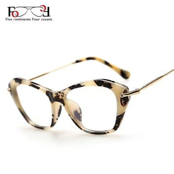 DCCKNY6 New 2015 Fashion Frame Glasses Women Cat Eye Glasses Woman Classic Optical Vintage Glasses Frame Eyeglasses Oculos Gafas