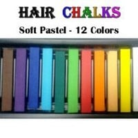 HAIR CHALKS*SQUARE SOFT PASTELS*TEMPORARY HAIR COLOR