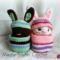 Easter Buddies-Bunnies; CROCHET PATTERN; PDF