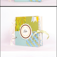 Baby Scrapbook Album  Baby Boy Keepsake Memory Photo Book Personalized with Name and Date