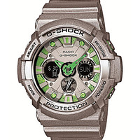 G-Shock Men's XL Analog-Digital Grey Watch - Silver/Green