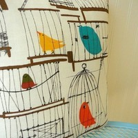 50s Birdcage Pillow by OIive on Etsy