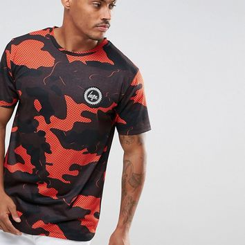Hype T-Shirt In Red Camo at asos.com
