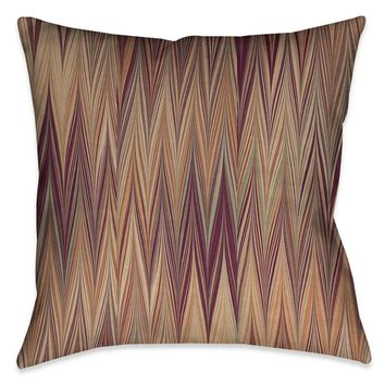 Muted Chevron Marble Outdoor Decorative Pillow