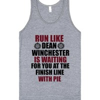 Run Like Dean Winchester is Wating for You at the Finish Line With Pie