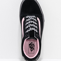 Vans x Lazy Oaf Old Skool Platform Black & Pink Shoes | Zumiez