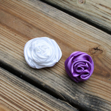 ANY COLOR Bobby Pin, Hair bow Accent, Rose, Prom,  Wedding Hair, Flower girl, baby hair bow, girls hair bow, hair clip,  toddler hair clip