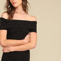 Bottom Line Heathered Dress