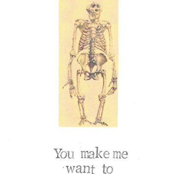 You Make Me Want To Evolve Valentine Card | Funny Evolution Nerdy Science Humor Weird Geeky For Him For Her Men Women Vintage Hipster Pun
