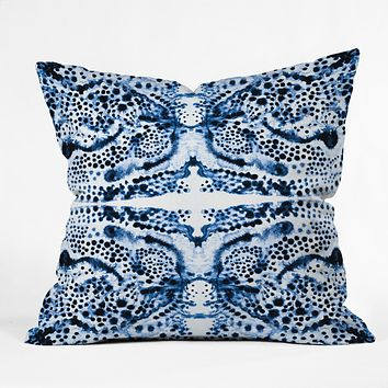 Elisabeth Fredriksson Symmetric Dream Blue Throw Pillow