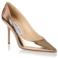 Agnes nude mirror leather pump Jimmy Choo - Designer Shoes at ShopSavannahs.com