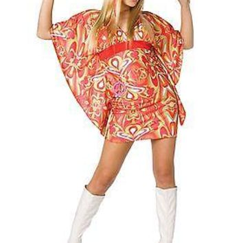 Adult Womens 60s Hippie Costume