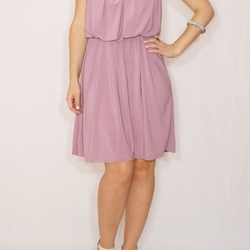 Light purple dress Lilac Bridesmaid dress Short dress Party dress