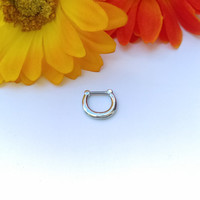 16g Classic Steel Septum Clicker Surgical Steel 316L Septum Ring