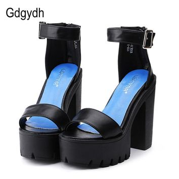 SHOES SANDALS White Summer Sandal Shoes for Women Thick Heels Sandals Platform Casual Russian Shoes