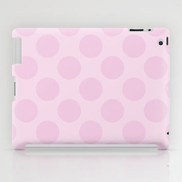Pale Pink Polka Dots iPad Case by KCavender Designs
