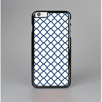 The Navy & White Seamless Morocan Pattern V2 Skin-Sert for the Apple iPhone 6 Plus Skin-Sert Case