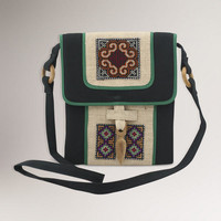 Novica Colors of the Night Hemp Shoulder Bag - World Market
