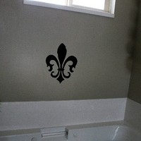 Fleur De Lis Vinyl Decal Sticker for Home Decor.  Choose Your Color.