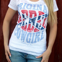 Rebel Flag Ladies Burnout Top