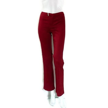 Moschino Oxblood  Pants Boot Cut Italian Designer Pants