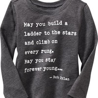 Old Navy Bob Dylan Lyrics Tee For Baby