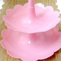 Two-Tier Accessory Display Stand/Tower - PINK