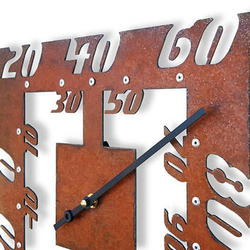Radial II, Rustic Thermometer, Fahrenheit, Outdoor Metal Art, Indoor Wall, Patio, Garden, Kitchen, Room, Analog, Retro, Scale, Industrial