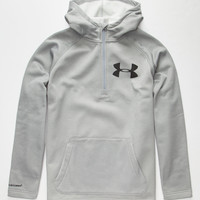 Under Armour Storm Coldgear Infrared Beacon Mens Anorak Hoodie Gray  In Sizes