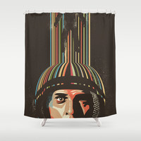 Relativity Shower Curtain by Danny Haas