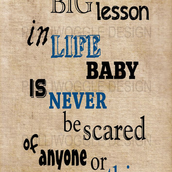 The Big Lesson In Life, Frank Sinatra Quote, wall decor, typography, A3, A4, Modern Prints,
