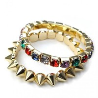 Diamond Spike Twin Bracelets