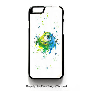 Monster Inc Mike Paint Brush for iPhone 4 4S 5 5S 5C 6 6 Plus , iPod Touch 4 5  , Samsung Galaxy S3 S4 S5 Note 3 Note 4 , and HTC One X M7 M8 Case Cover