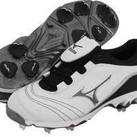 Mizuno Women's 9-Spike Swift G2 Switch Softball Cleat (White/Black, 10.5)