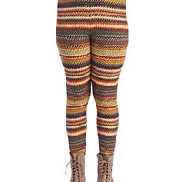 Soft Ikat Stripe Legging | Wet Seal+
