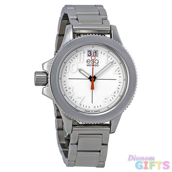 ESQ Movado? Women's 07101404 esq Fusion Stainless Steel Interchangeable Strap Watch