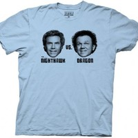 Step Brothers Nighthawk VS. Dragon Light Blue Mens T-shirt