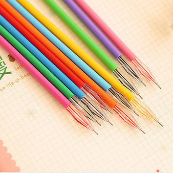 12pcs New Cute diamond Colorful  Pen Set Korean Stationery School Supplies HUUS